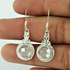 925 Sterling Silver Antique Jewellery Beautiful Crystal Gemstone Earrings