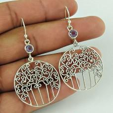 925 Sterling Silver Amethyst Gemstone Earring Exporter