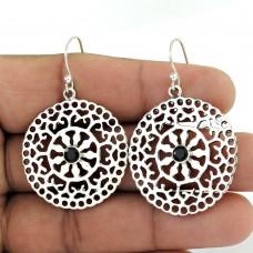 925 Sterling Silver Antique Jewellery Designer Black Onyx Gemstone Earrings Exporter