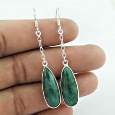 Sterling Silver Jewellery Fashion Emerald Gemstone Earrings Grossiste