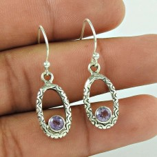 Spirit Of Peace !! 925 Sterling Silver Amethyst Gemstone Earring Jewellery