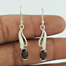 Pretty 925 Sterling Silver Smoky Quartz Gemstone Earring Jewellery