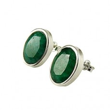 Indian Sterling Silver Jewellery Fashion Emerald Gemstone Earrings Hersteller