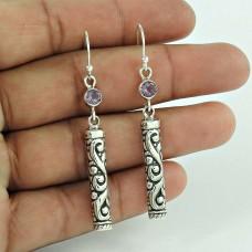 925 Sterling Silver Jewellery Traditional Amethyst Gemstone Earrings Mayorista