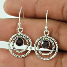 925 Sterling Silver Fashion Jewellery Beautiful Garnet Gemstone Earrings De gros