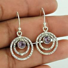 Sterling Silver Jewellery Traditional Amethyst Gemstone Earrings Supplier
