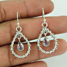 925 Sterling Silver Indian Jewellery Fashion Amethyst Gemstone Earrings Fournisseur