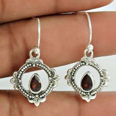 925 Sterling Silver Jewellery Beautiful Garnet Gemstone Earrings Lieferant