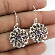 925 Sterling Silver Gemstone Jewellery Charming Amethyst Gemstone Earrings Supplier