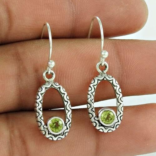 Sterling Silver Fashion Jewellery Rare Peridot Gemstone Earrings Manufacturer