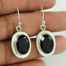 925 Silver Jewellery Ethnic Black onyx Gemstone Earrings Manufacturer