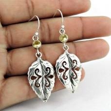 Sterling Silver Fashion Jewellery High Polish Citrine Gemstone Earrings Lieferant