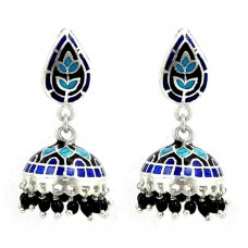 Big Fabulous ! 925 Sterling Silver Enamel Jhumki Wholesaling