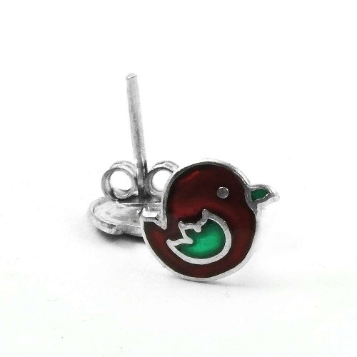 Stylish Design!! 925 Sterling Silver Enamel Earrings Wholesaler