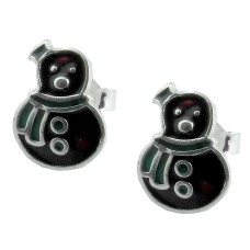 925 Sterling Silver Taddy Enamel Earrings Manufacturer