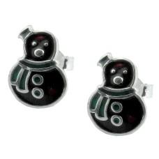 925 Sterling Silver Taddy Enamel Earrings Manufacturer