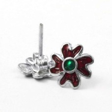 Passionate Modern Style Of!! 925 Sterling Silver Enamel Earrings