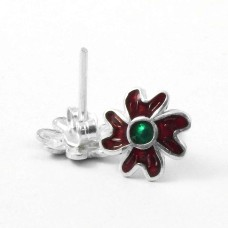 Passionate Love!! 925 Sterling Silver Enamel Earrings Exporter India