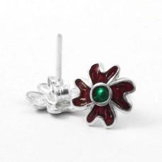 Passionate Love!! 925 Sterling Silver Enamel Earrings Exporter India