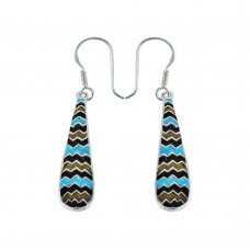 Favorite Inlay 925 Sterling Silver Earrings Wholesaling