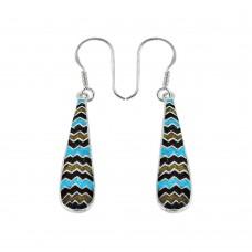 Favorite Inlay 925 Sterling Silver Earrings Wholesaling