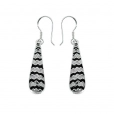 Graceful Inlay 925 Sterling Silver Earrings Al por mayor