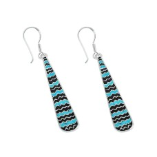 Seductive Inlay 925 Sterling Silver Earrings Proveedor
