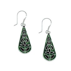 Awesome Inlay 925 Sterling Silver Earrings Supplier India