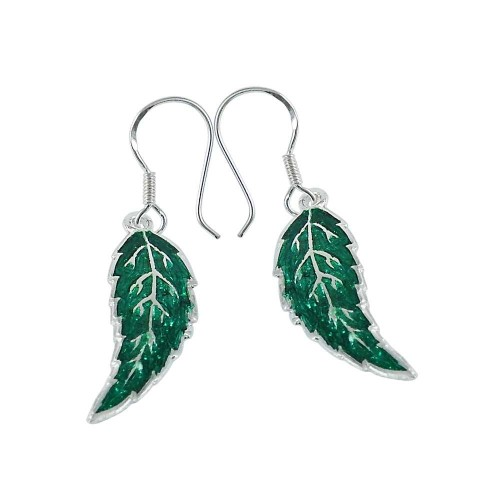 Exquisite Inlay 925 Sterling Silver Earrings Manufacturer India
