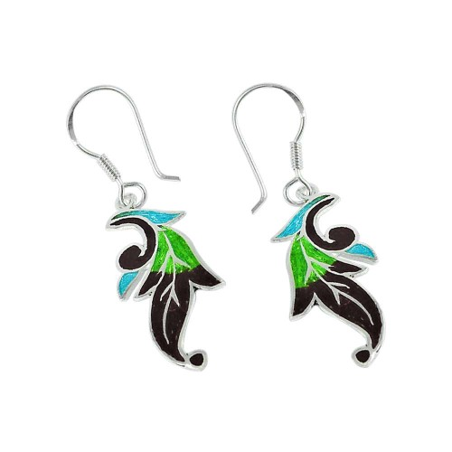 Shine Inlay 925 Sterling Silver Earrings Wholesale Price
