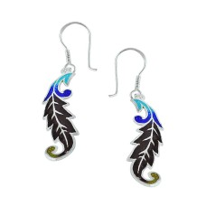 Sightly Inlay 925 Sterling Silver Earrings Al por mayor