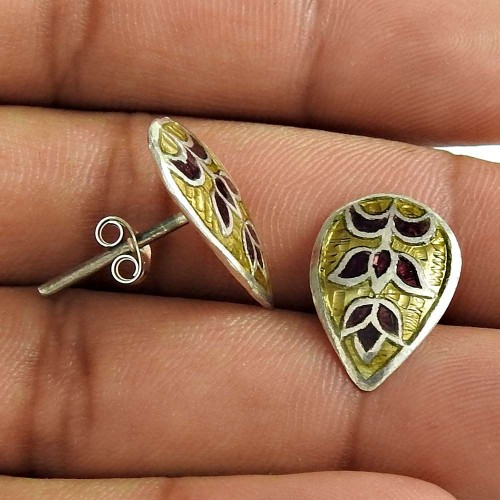 Beauty Queen 925 Sterling Silver Gold Inlay Earring Women Fashion Jewelry