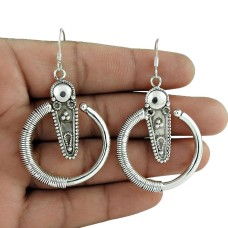 925 Sterling Silver Jewellery Charming Silver Earrings Ethnic Jewellery Supplier