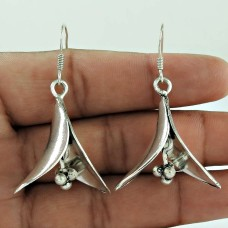 Pale Beauty!! 925 Sterling Silver Earrings Exporter
