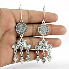 925 Sterling Silver Antique Jewellery Ethnic Silver Earrings Jewellery Exporter