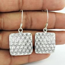 Lady Elegance!! 925 Sterling Silver Earrings Exporter