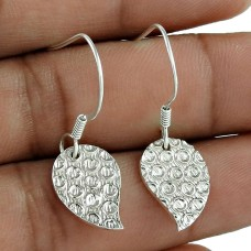 925 Sterling Silver Jewellery Leaf Silver Earrings Wholesaler