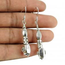 Lustrous 925 Sterling Silver Earrings 925 Silver Fashion Jewellery