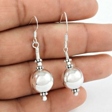 Sightly 925 Sterling Silver Ball Earrings Indian Sterling Silver Jewellery