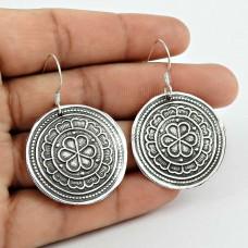 925 Sterling Silver Oxidised Jewellery Charming Silver Earrings Supplier