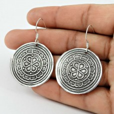 925 Sterling Silver Vintage Oxidised Jewellery Fashion Silver Earrings Proveedor