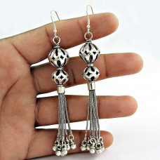 Pale Beauty! 925 Sterling Silver Earrings Wholesaling