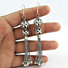 Pale Beauty! 925 Sterling Silver Earrings Wholesaling