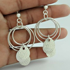 925 Sterling Silver Fashion Jewellery Charming Silver Earrings Jewellery Wholesaler India