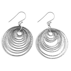 Round and Round !! 925 Sterling Silver Earrings Wholesaling