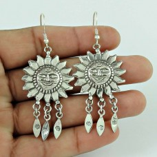 Smiling Sun ! 925 Sterling Silver Earrings Hersteller