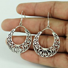 Simple! 925 Sterling Silver Earrings Manufacturer India