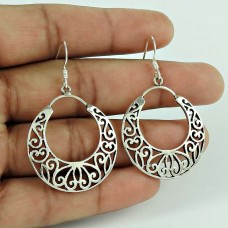 Natural Beauty! 925 Sterling Silver Earrings Wholesale Price