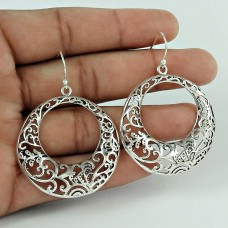 Designer! 925 Sterling Silver Filigree Earrings Proveedor