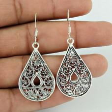 Drop Design 925 Sterling Silver Earrings Lieferant